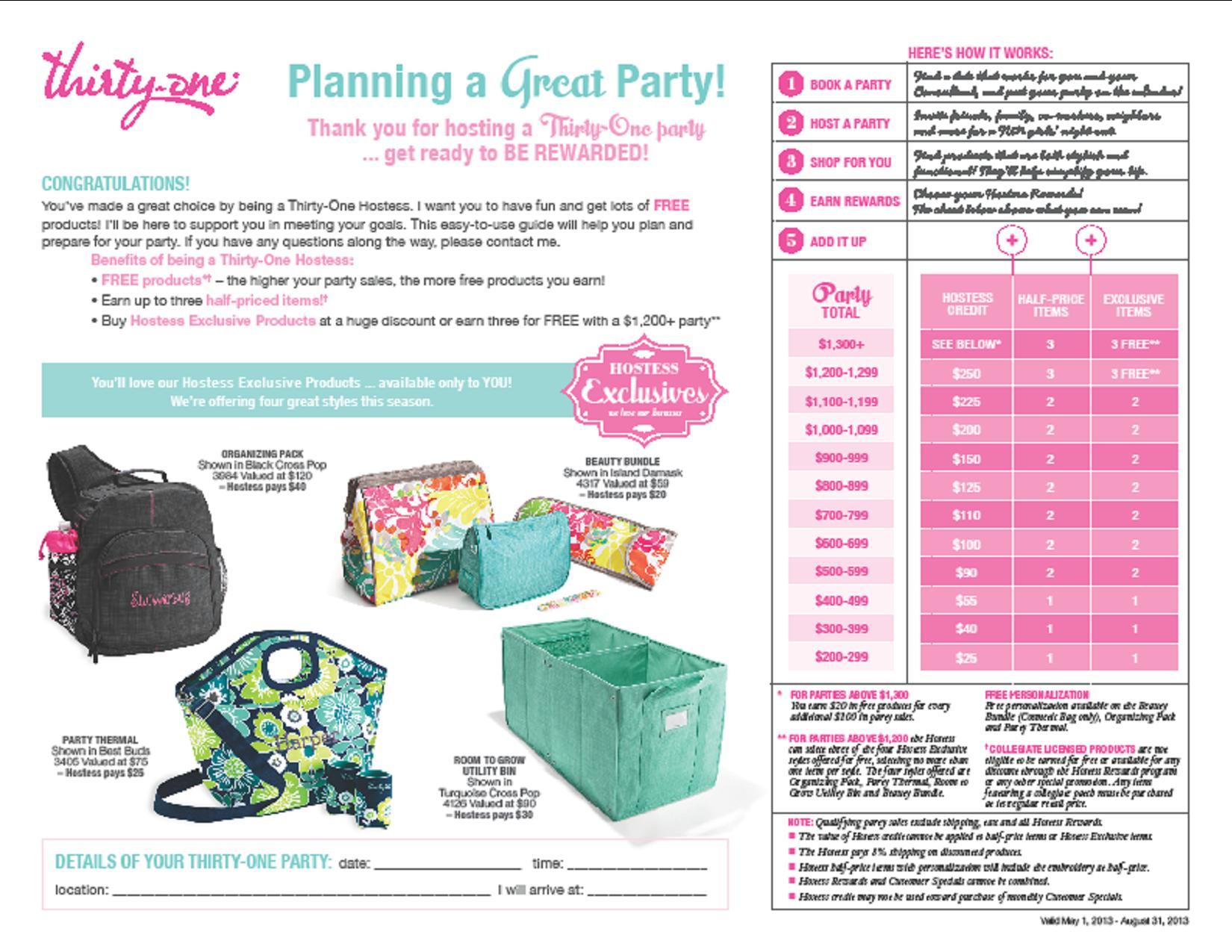 Thirty One Gifts Hostess Login Gift Ftempo